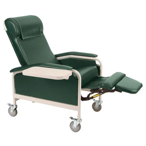 recliner with wheels winco three position carecliner with casters medical chairs
