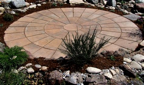 circular patio kits curved walkways earthstone products