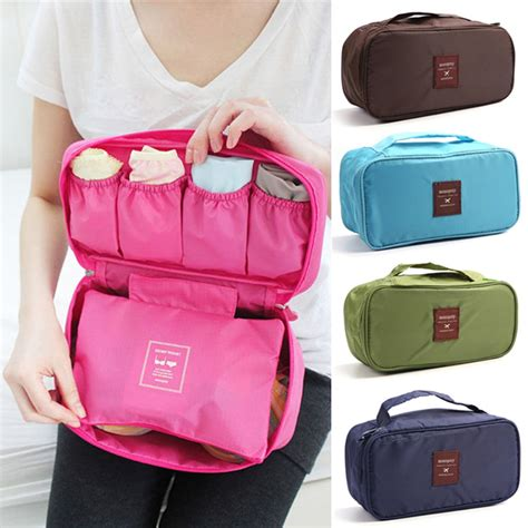 portable laundry pouch travel pouch storage organizer for socks bras ties scarf small