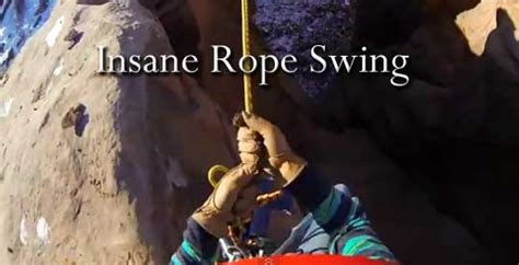 crazy rope swing insane rope swing z6mag