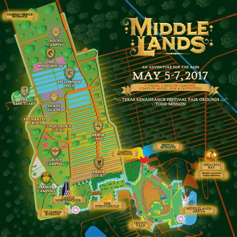 middlelands reveals daily lineup  festival mapand