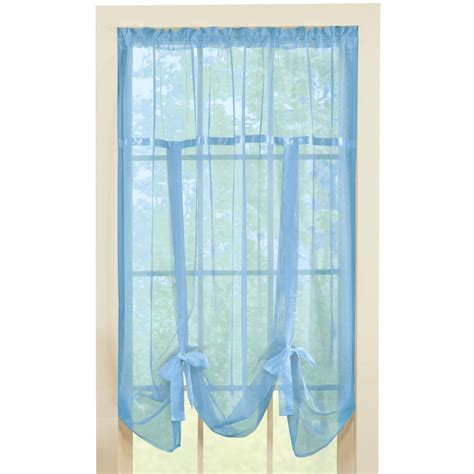 Sheer Tie Up Shade Curtain By Collections Etc Ebay