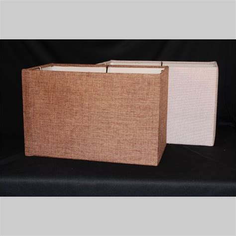 Rectangle L Shades by Sand Burlap Rectangle Shade 16wx10dx10 5h Kirks
