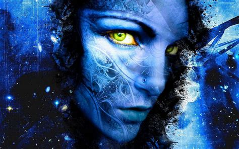 wallpaper blue fantasy women blue fantasy art digital art artwork photoshop faces