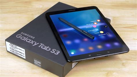 samsung galaxy tab s3 unboxing on