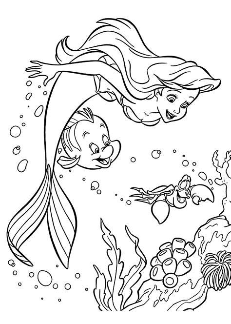 coloring pages you can color disney disney coloring pageariel coloring page pictures