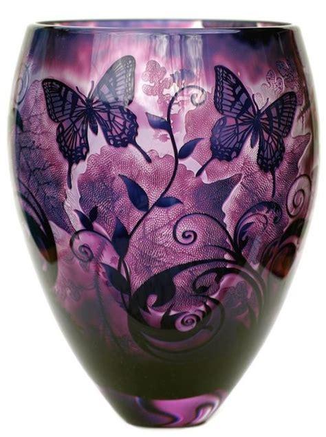 Butterfly Glass Vase by Purple Butterfly Vase Purple
