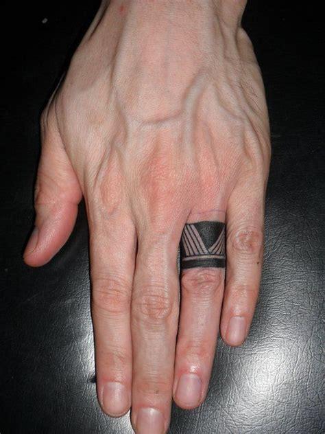 barcode tattoo finger tribal ring finger tattoo tattooshunt com