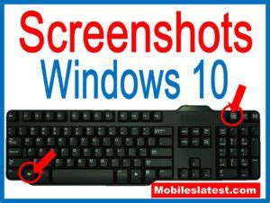 how to take a screenshots or screen capture in windows10
