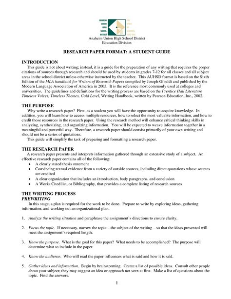 How To Make A Research Paper Exle - research paper outline