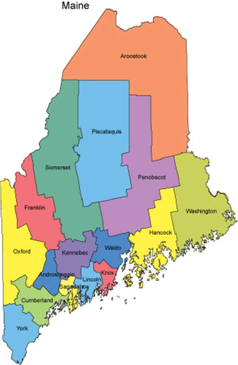 maine map with counties maine map