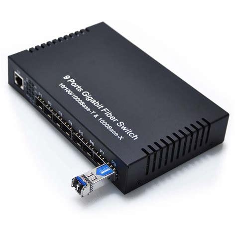 Switch Hub Fiber Optic 8 port sfp optical switch with singlemode sfp