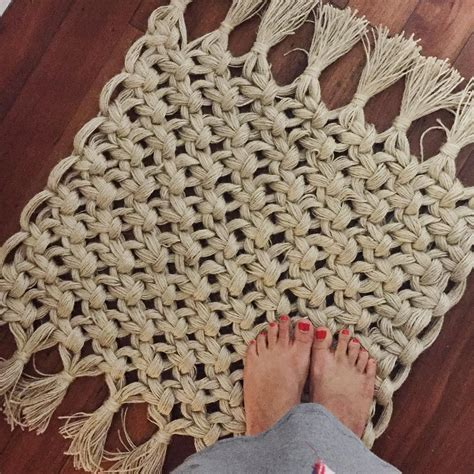 Macrame Crochet Patterns - macrame rug how simple would this blanket sized