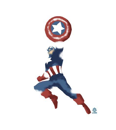 captain america vector wallpaper captain america minimalist splash poster by loweak on