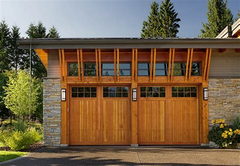 garage doors modern cedar shake style contemporary door designs styles pictures