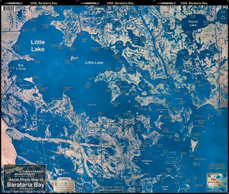louisiana fishing map barataria bay aerial chart la8 keith map service inc