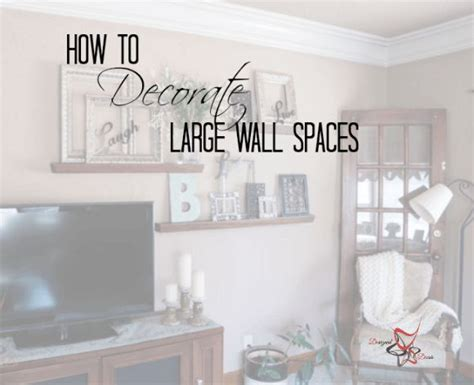 decorate  large wall family room walls room