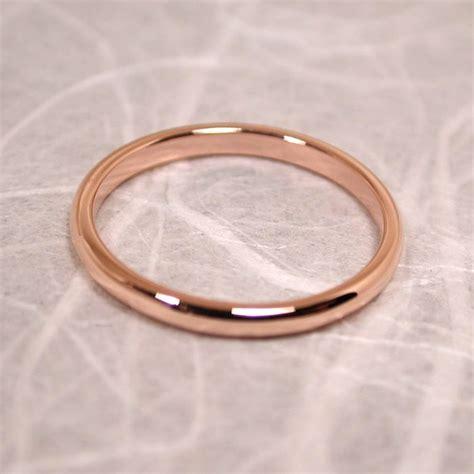 size 6 band 14k wedding ring gold delicate blush pink
