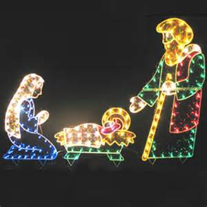 lighted christmas decorations 3 piece holographic