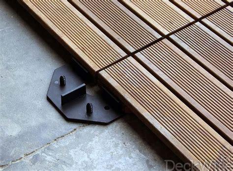 Hidden Backyard Pool Deck Tile Connectors Tile Fastener System Hardwood Deck