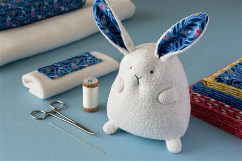 sewing pattern and fabric kits chubby bunny sewing pattern and kits
