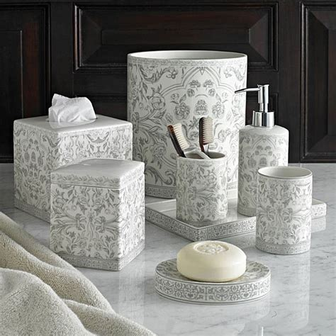 gray bathroom accessories kassatex orsay grey bath accessories gracious style