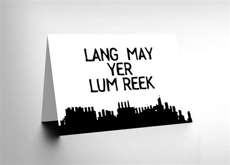 quote scots saying lang lum reek hogmanay scotland blank