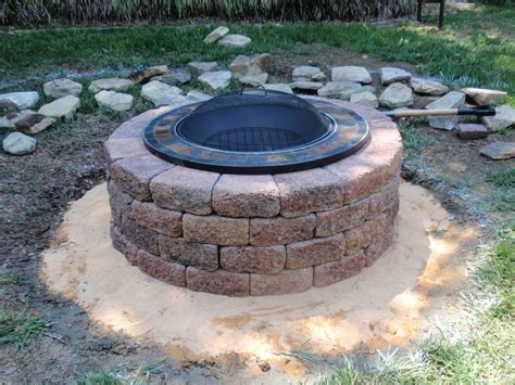 build backyard fire pit fire pit bench diy