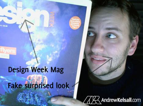 design week competition design week and a dodgy picture of me competition winner