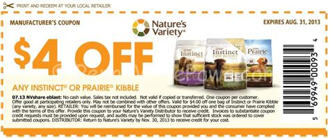 dog food coupons june 2015 nature s variety instinct up to 8 off high quality