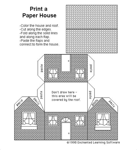 printable house pdf paper house template 19 free pdf documents download