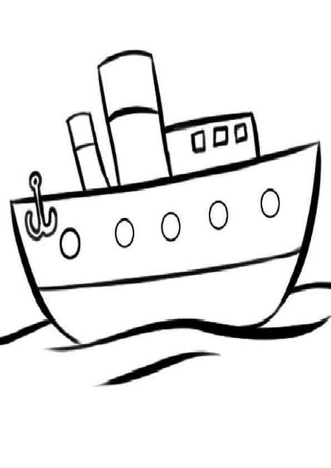 barco con ancla dibujo dibujos de barcos para pintar