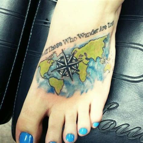 tattoo compass foot 55 compass tattoo design ideas amazing tattoo ideas