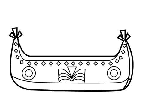 barcos para colorear en linea dibujo de barco de indios para colorear