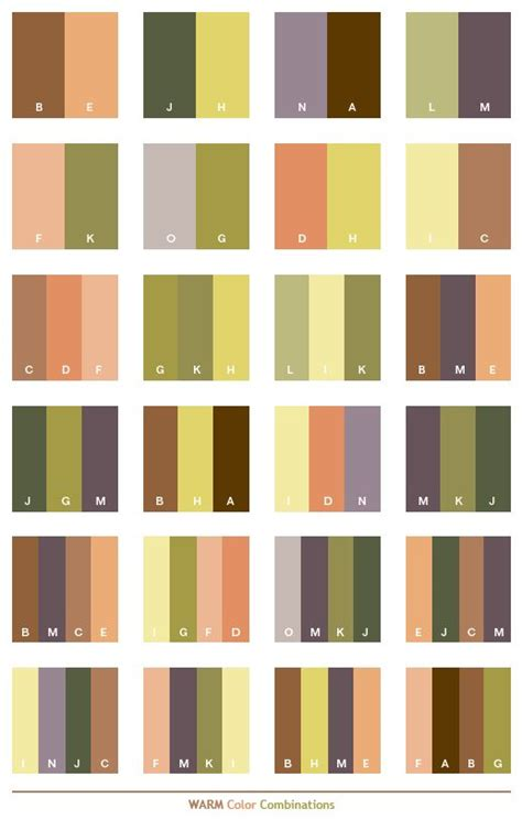 brown color combination warm color schemes color combinations color palettes for
