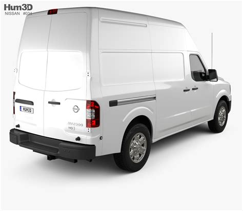 nissan nv cargo high roof 2013 3d model vehicles on hum3d
