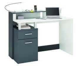 Gray Computer Desk Home Office Furniture Computer Desk Study White Grey Ebay
