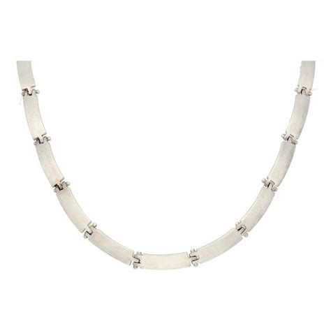 esprit mat silver modern esprit necklace with matte silver links catawiki