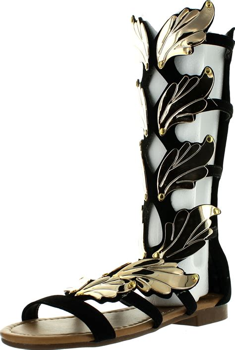 winged gladiator sandals forever link womens kesha 72 faux nubuck leather winged