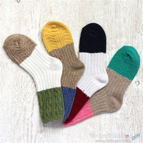 Tas Lop Yellow Khaki thick knitted wool socks 4 colors