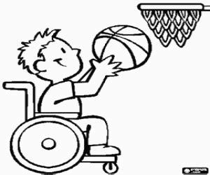 imagenes para colorear rueda baloncesto en silla de ruedas para colorear pintar e imprimir
