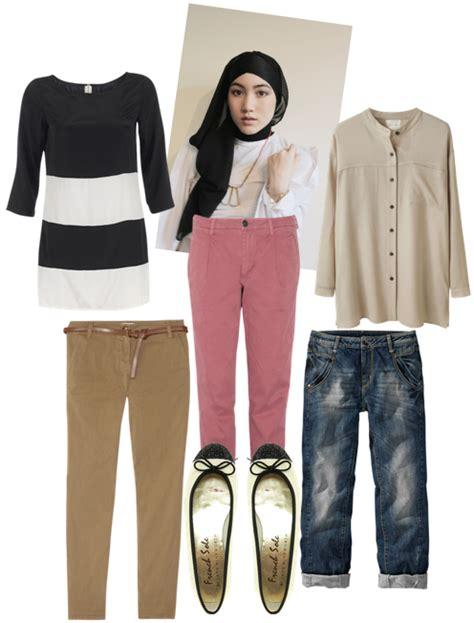 Tunik Blouse Muslim Pastel Alena Celana Panjang Kulot mix match busana muslim tutorial