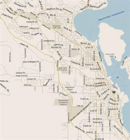 nanaimo map columbia listings canada