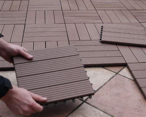 Terrassenfliesen Kunststoff Holzoptik by Bambusholz Terrassenfliesen Wpc Terrassenfliesen
