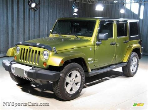 jeep wrangler green 2008 jeep wrangler unlimited 4x4 in rescue green