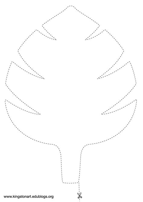 jungle leaf templates to cut out jungle leaf template chris gadbury s lesson