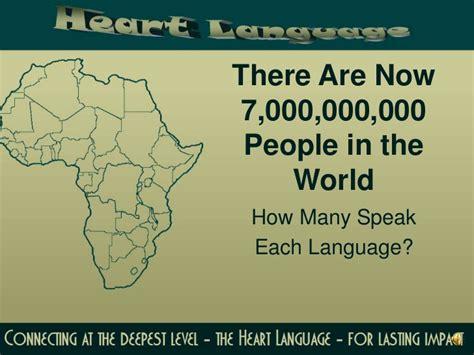 how many speak each language