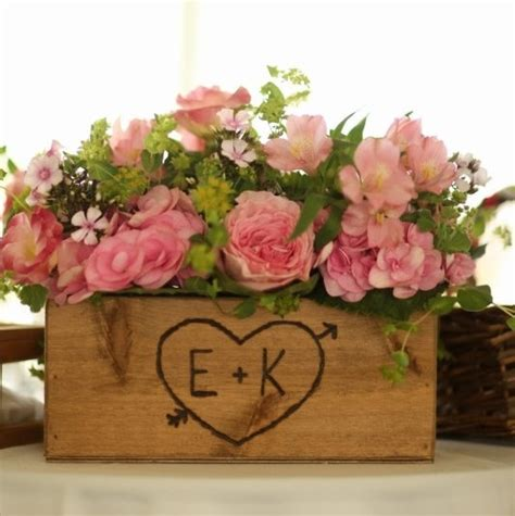 wooden centerpiece boxes rustic wedding wooden box centerpiece flowers by