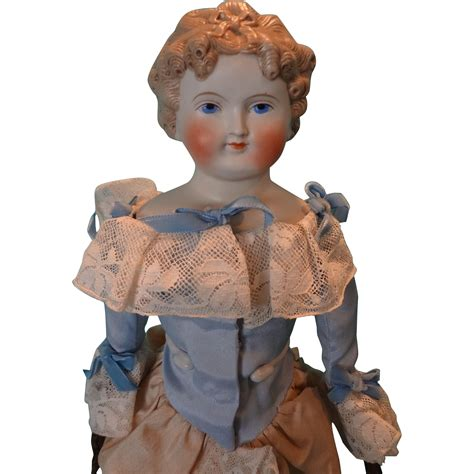 bisque doll molded hair parian bisque doll with fancy molded hair and leather arms