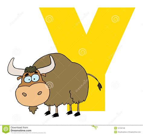 Character With Letter Y Letter Y With A Yak Stock Vector Image Of Graphics Images 15744746